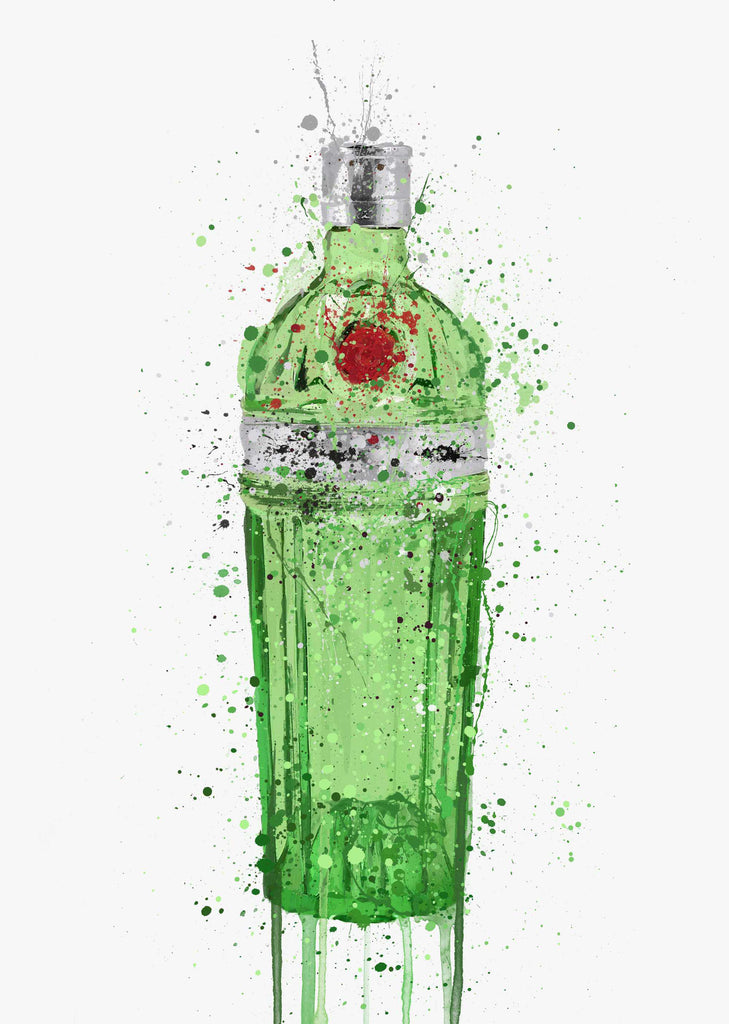 Gin Bottle Wall Art Print 'Emerald 2.0'