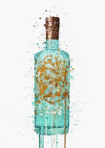 Gin Bottle Wall Art Print 'Sea Spray'
