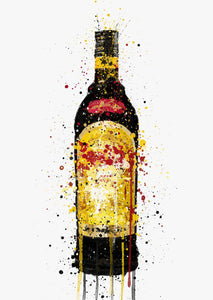 Liqueur Bottle Wall Art Print 'Merchant's Gold'