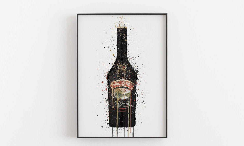 Liqueur Bottle Wall Art Print 'Irish Dream'