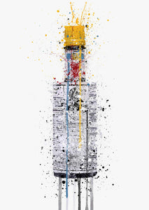 Bitters Bottle Wall Art Print 'Mondrain'