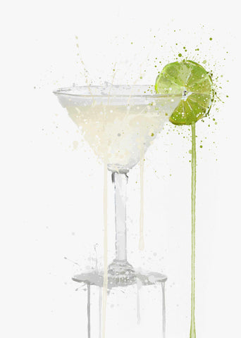 Gin Gimlet Cocktail Wall Art Print