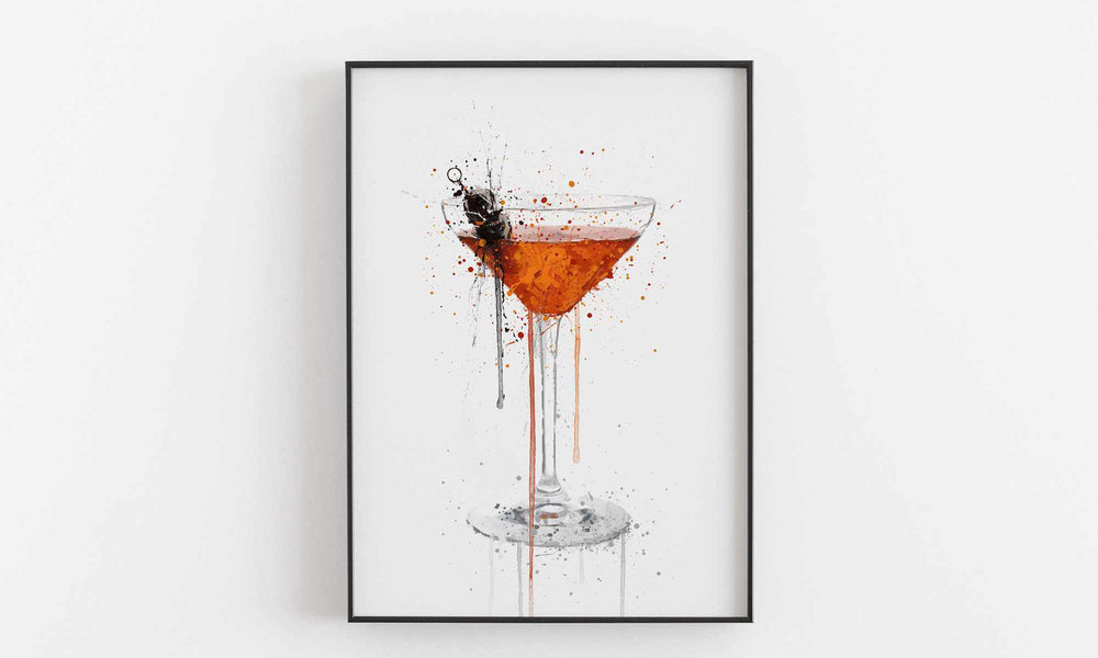 Manhattan Cocktail Wall Art Print We Love Prints Ltd