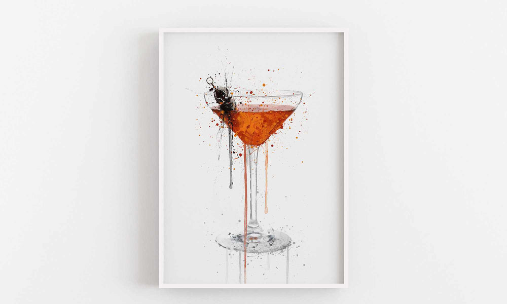 Manhattan Cocktail Wall Art Print