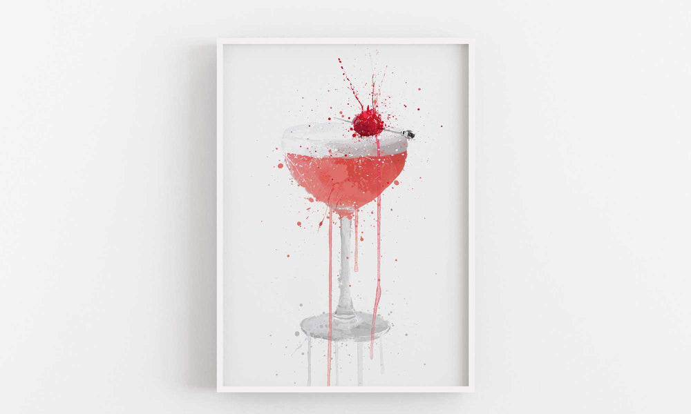 Clover Club Cocktail Wall Art Print