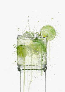 Caipirinha Cocktail Wall Art Print