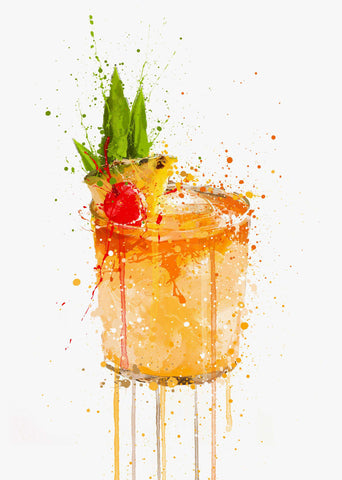 Mai Tai Cocktail Wall Art Print