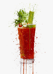 Bloody Mary Cocktail Wall Art Print