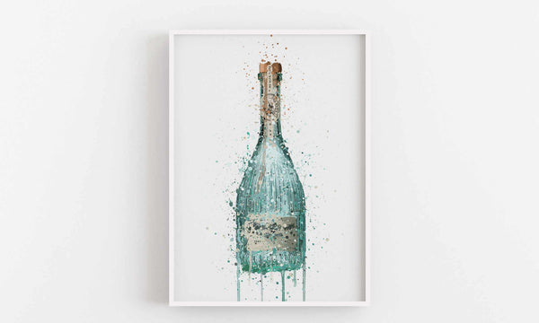Gin Bottle Wall Art Print 'Harbour'