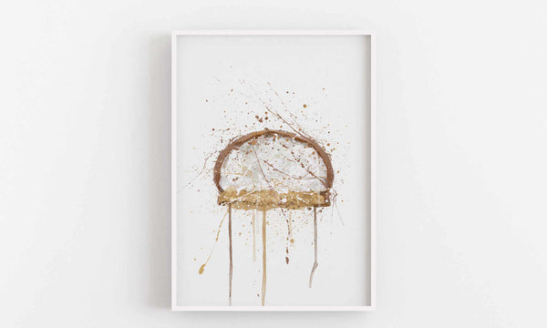 Cake Wall Art Print 'Mallow Biscuit'