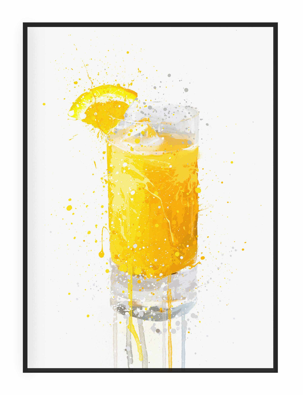 Orange Juice Wall Art Print