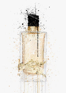 Fragrance Bottle Wall Art Print 'Platinum Gold'