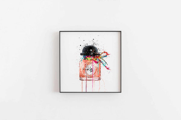 Fragrance Bottle Wall Art Print 'Popping Candy'