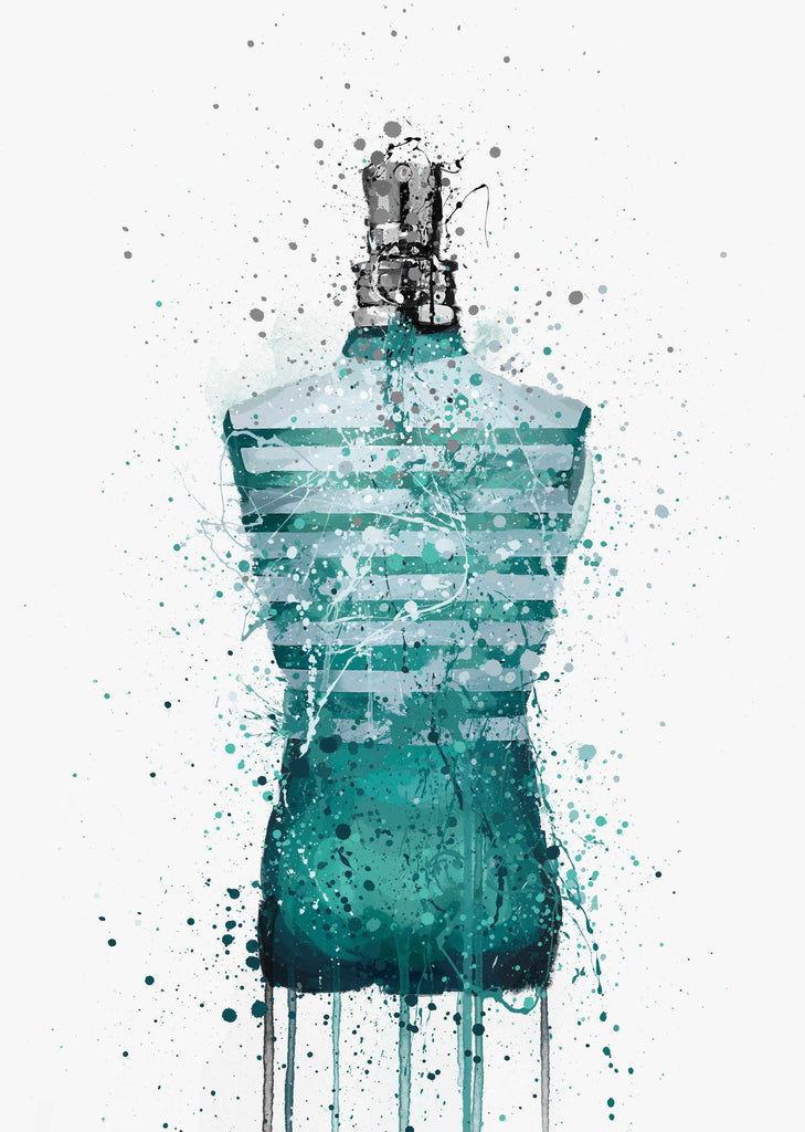 Fragrance Bottle Wall Art Print 'Poseidon'