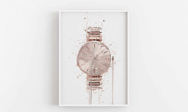 Wrist Watch Wall Art Print 'Rose Gold'