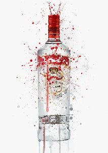 Vodka Bottle Wall Art Print 'Glacial'