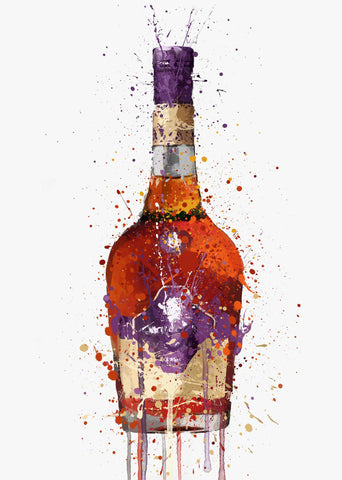 Liquor Bottle Wall Art Print 'Maple'
