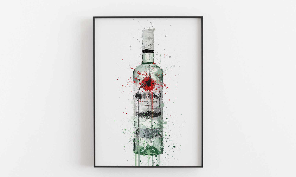 Rum Bottle Wall Art Print 'Caribbean Seas'
