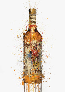 Rum Bottle Wall Art Print 'Desert Island'