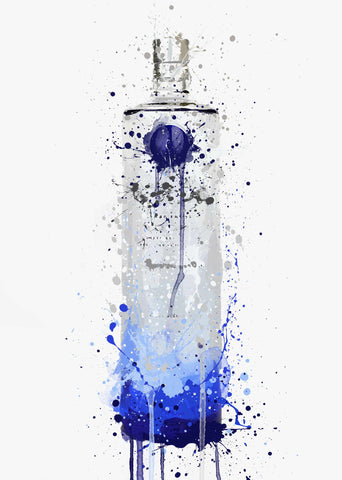 Vodka Bottle Wall Art Print 'Artic Frost'