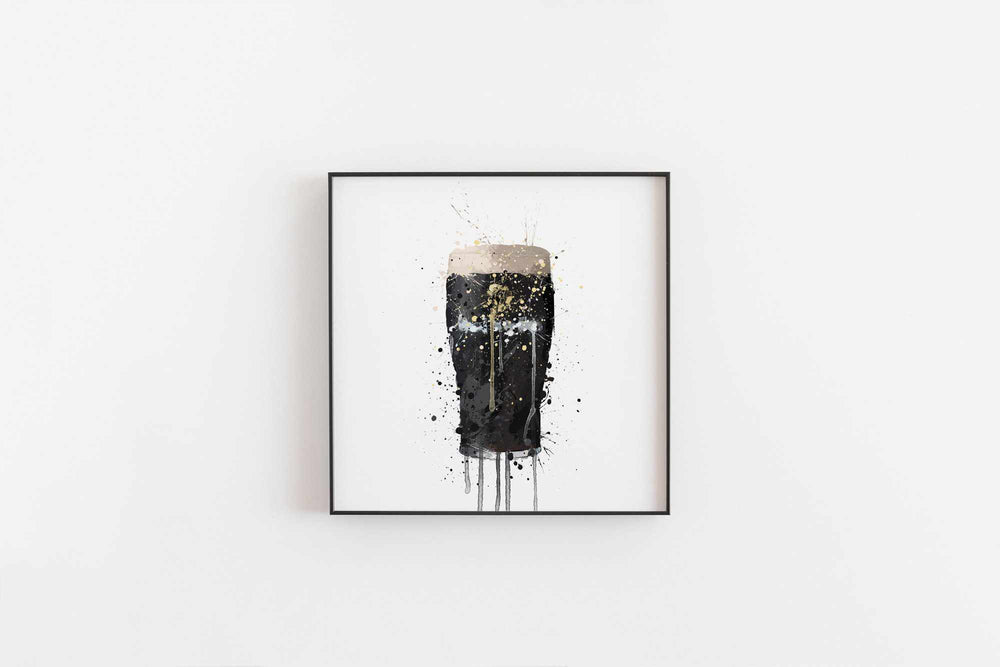 Pint Glass Wall Art Print 'Stout Pout'