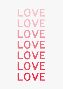 Typographic Wall Art Print 'Love'