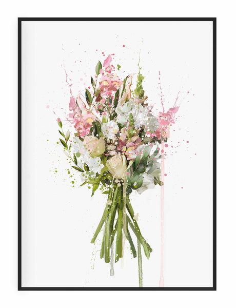 Flower Wall Art Print 'Blush'
