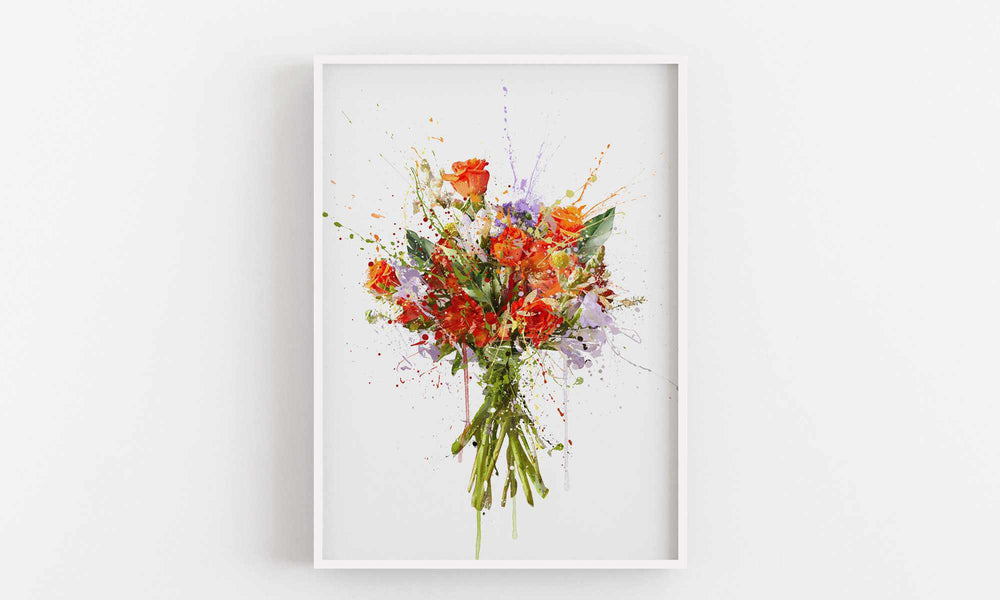 Flower Wall Art Print 'Mardi Gras'