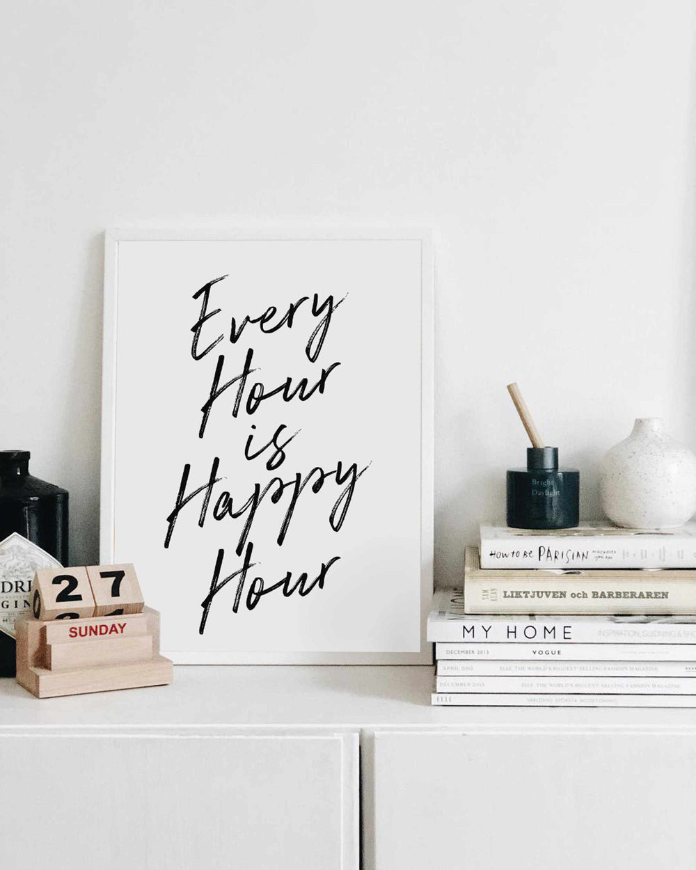Typographic Wall Art Print 'Happy Hour 2.0'