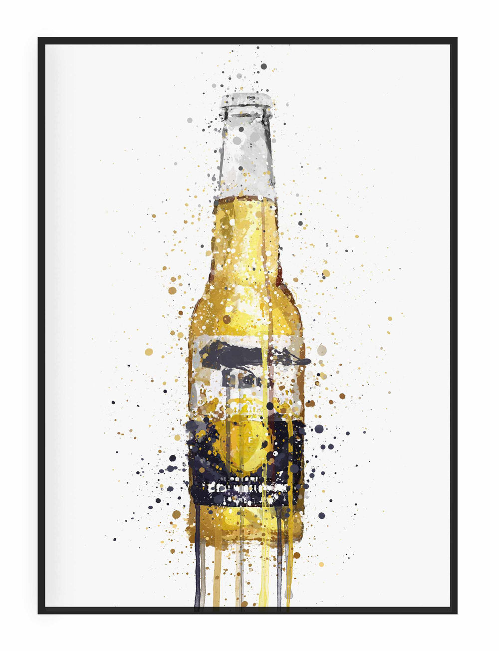 Beer Bottle Wall Art Print 'No Lime'