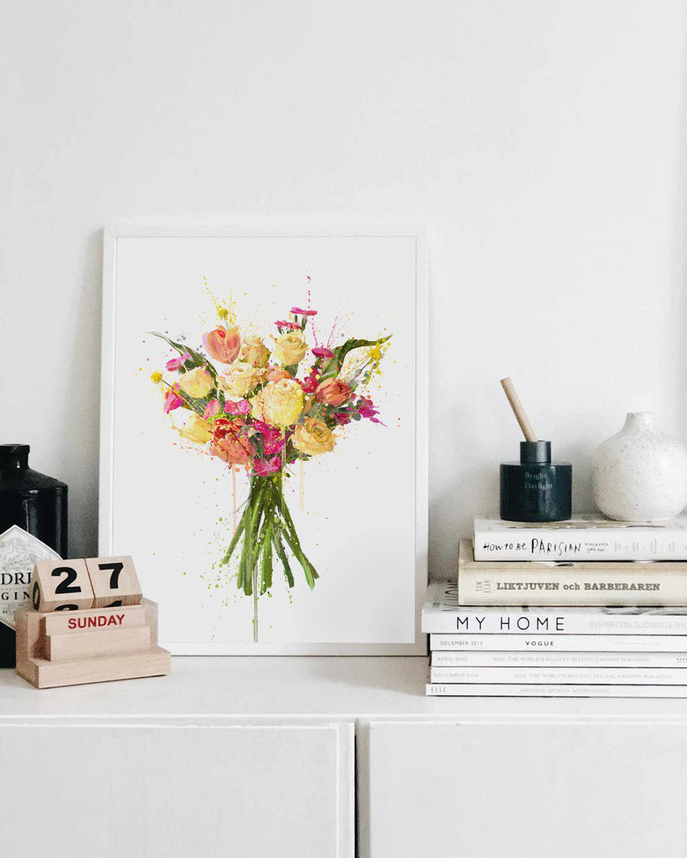 Flower Wall Art Print 'Lemon Drizzle'