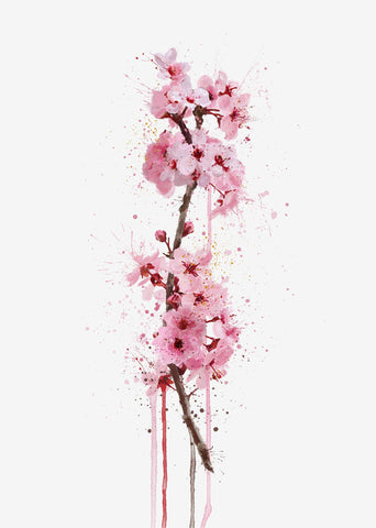 Flower Wall Art Print 'Cherry Blossom'