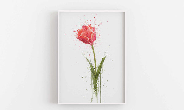 Flower Wall Art Print 'Tulip'