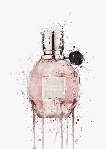 Fragrance Bottle Wall Art Print 'Miss Mauve'