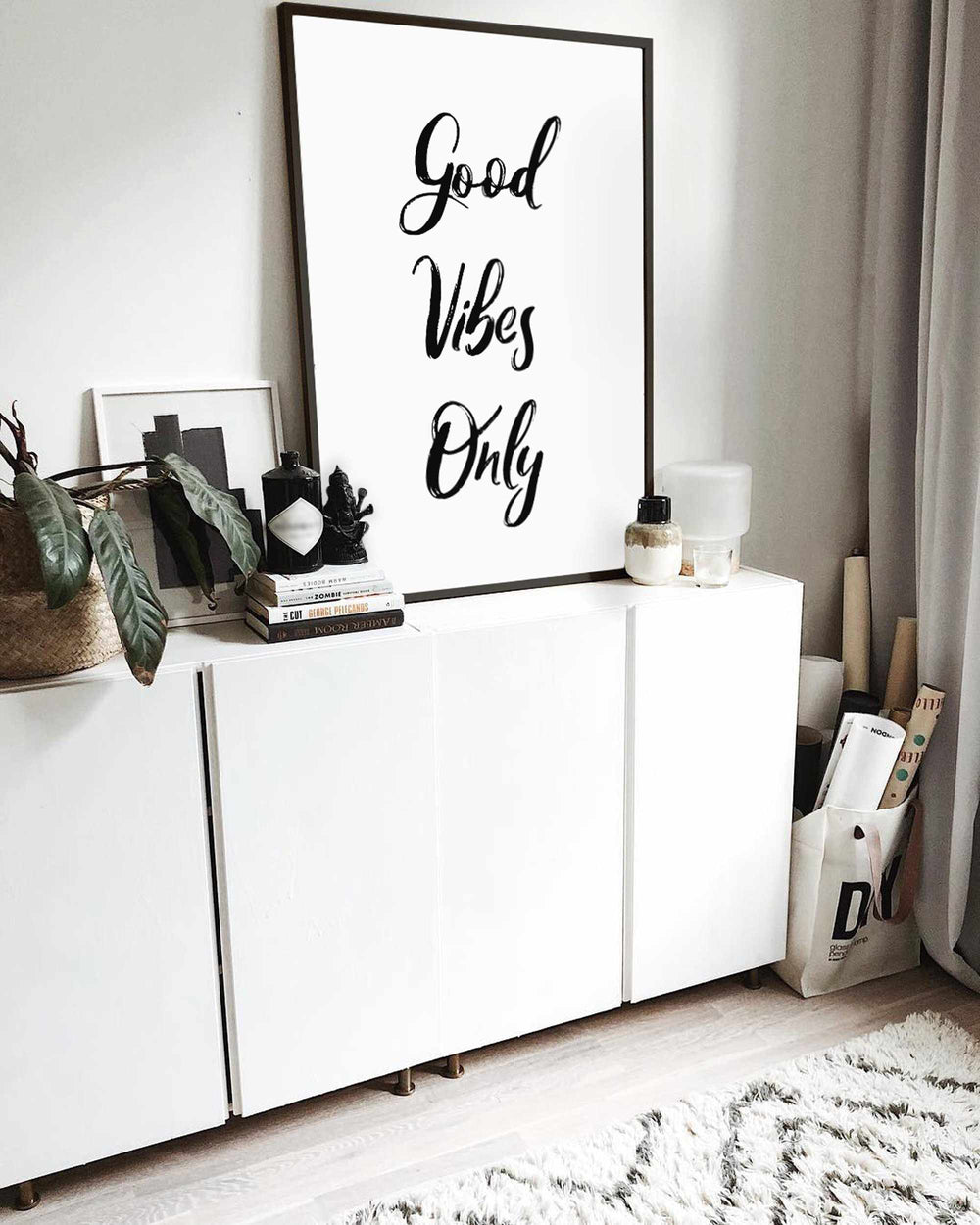 Typographic Wall Art Print 'Good Vibes Only 2.0'