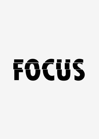 Typographic Wall Art Print 'Focus'