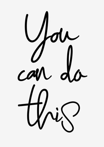 Typographic Wall Art Print 'You Can Do This 2.0'