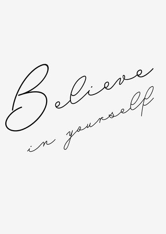 Typographic Wall Art Print 'Believe In Yourself'