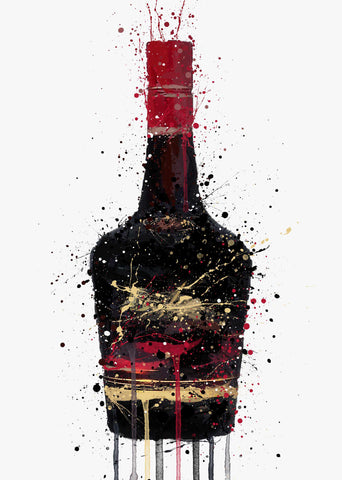 Liqueur Bottle Wall Art Print 'Burnt Umber'
