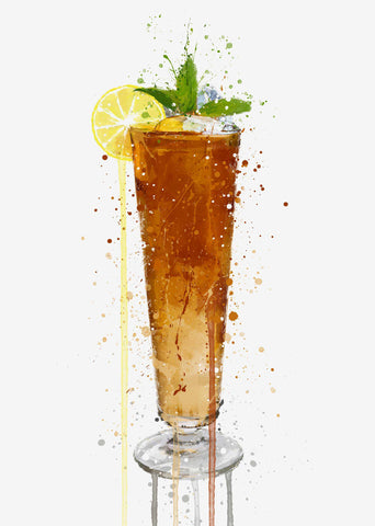 Long Island Ice Tea Cocktail Wall Art Print