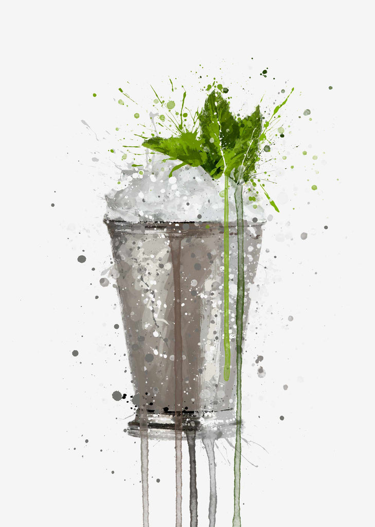 Mint Julep Cocktail Wall Art Print