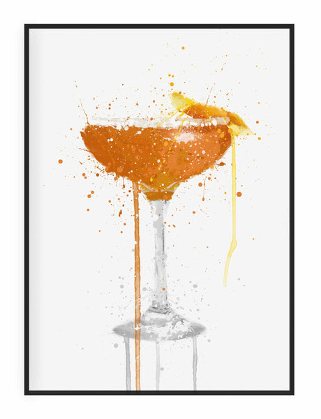 Side Car Cocktail Wall Art Print