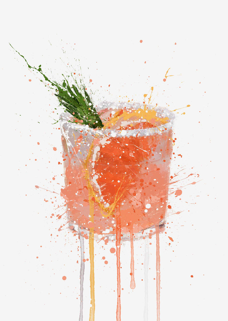 Paloma Cocktail Wall Art Print