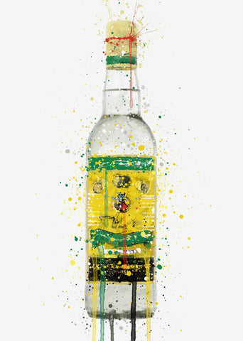 Rum Bottle Wall Art Print 'Pineapple Punch'