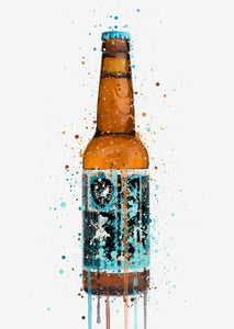 Beer Bottle Wall Art Print 'Rebel Rebel'