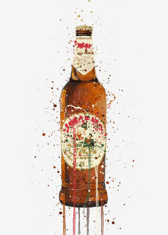 Beer Bottle Wall Art Print 'La Dolce Vita'