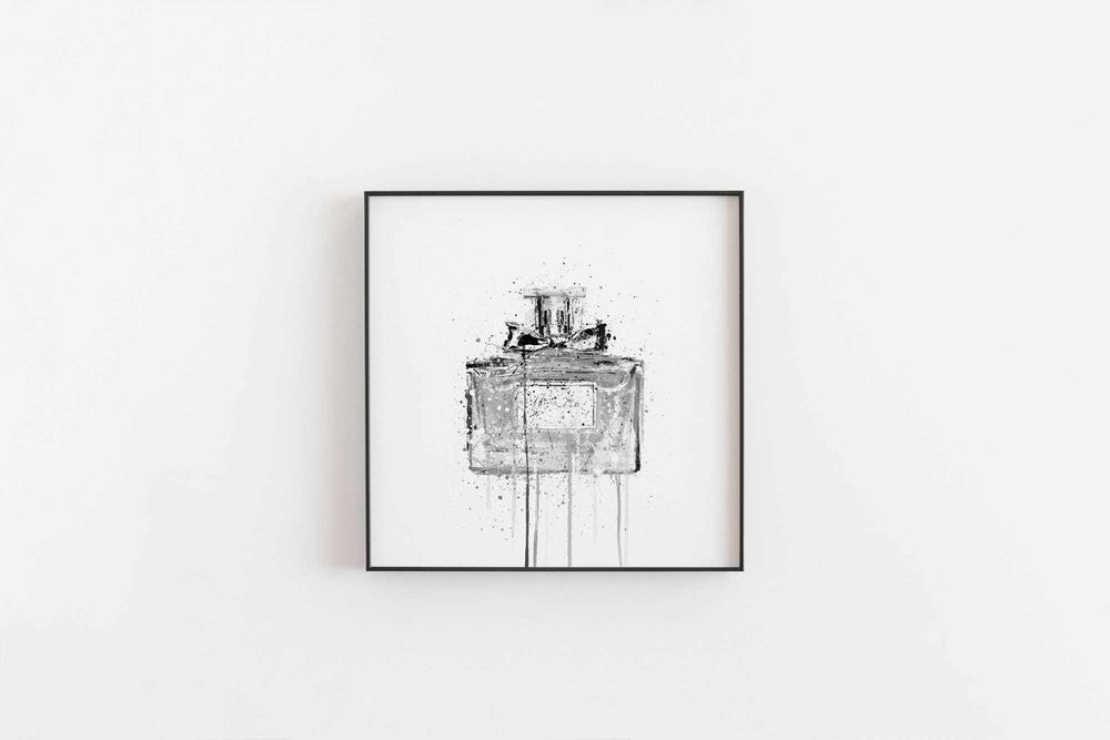 Fragrance Bottle Wall Art Print 'Candy Floss' (Grey Edition)