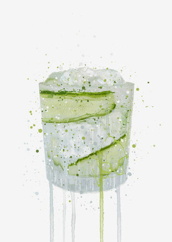 Gin and Tonic 'Cucumber' Wall Art Print
