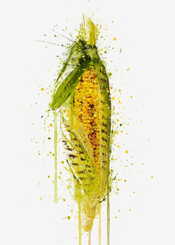 Grilled Corn Vegetable Wall Art Print
