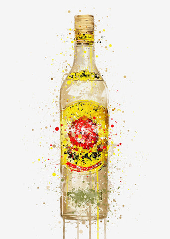 Rum Bottle Wall Art print 'El Sol'